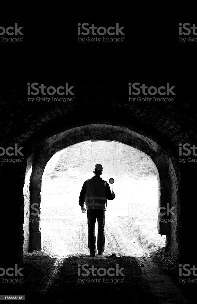 Stop Tunnel royalty-free stock photo
