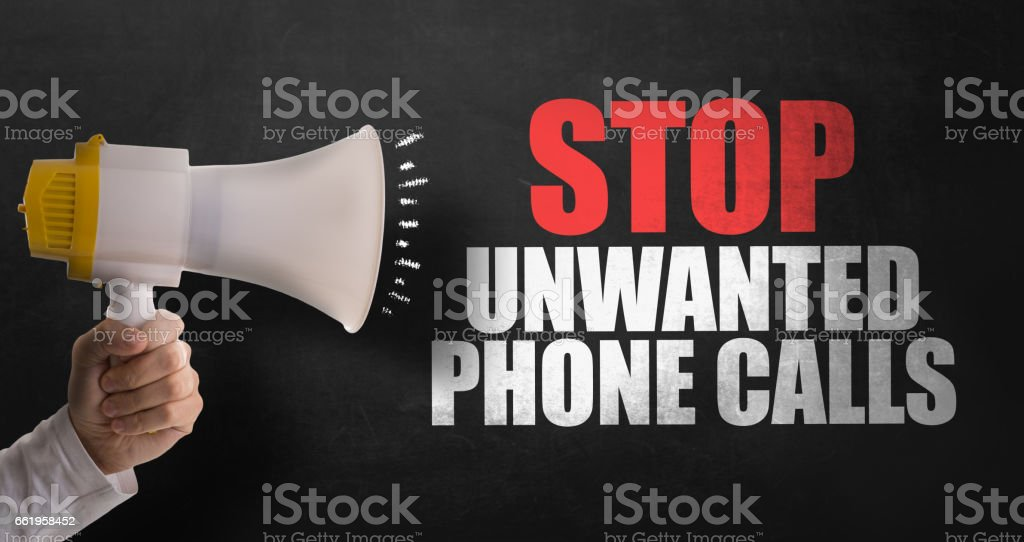 Stop Unwanted Phone Calls stock photo
