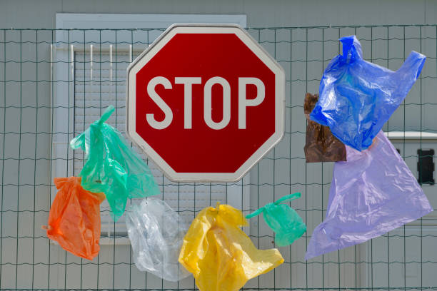 stop using plastic bags - disbarment stock pictures, royalty-free photos & images