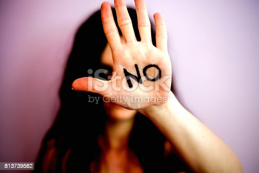 istock Stop violence against women, international women's day 813739582