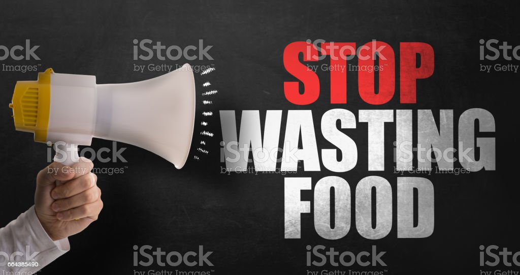 Stop Wasting Food stock photo
