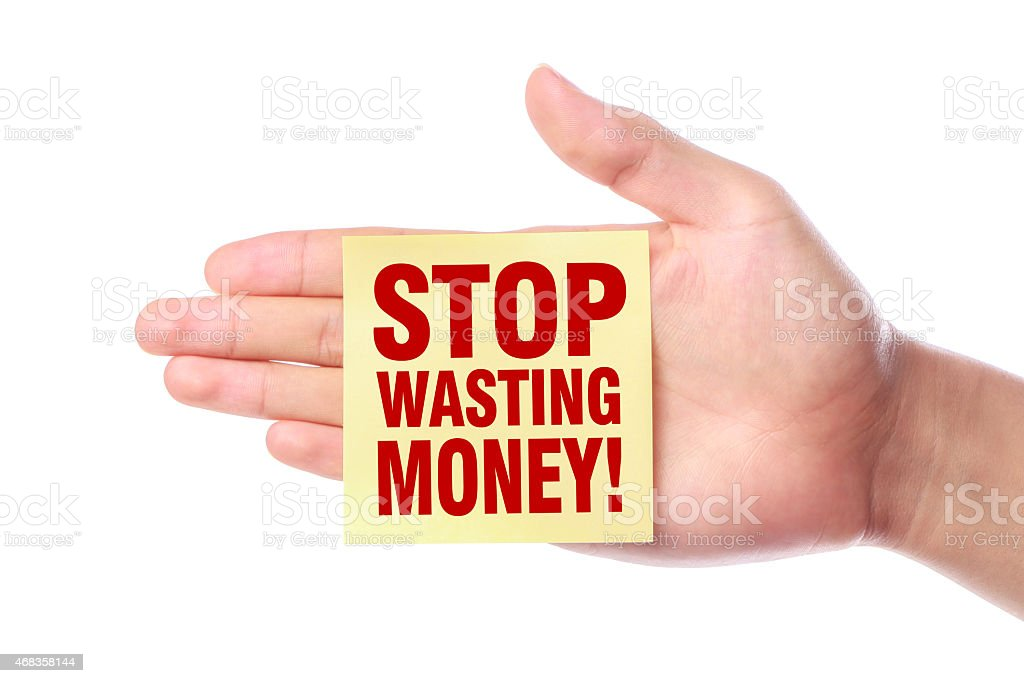 Stop Wasting Money royalty-free stock photo