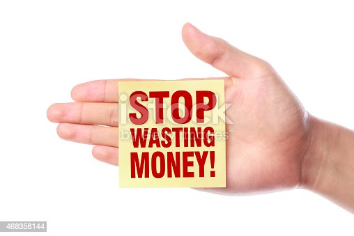 Stop Wasting Money Stock Photo & More Pictures of 2015
