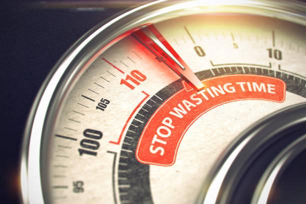 Vergeuden Sie keine Zeit - Modus Geschäftskonzept. 3D – Foto