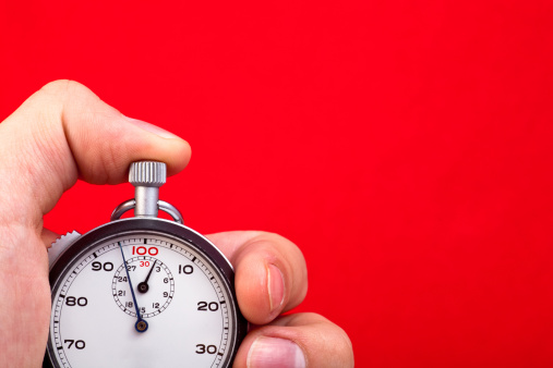 Stop Watch In Hand Stock Photo - Download Image Now