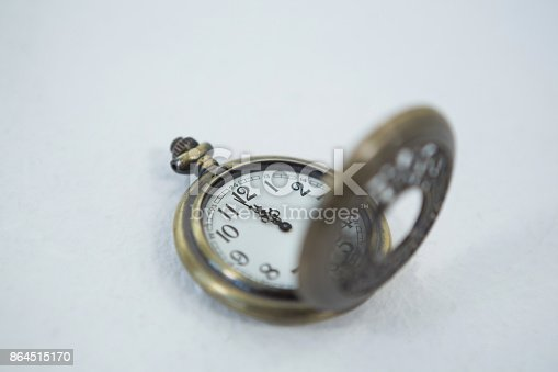 istock Stop watch on a white background 864515170