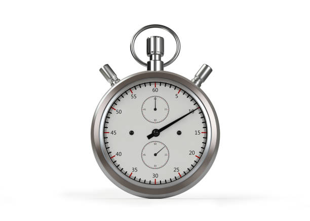 Stop Watch Timer On White stock photo