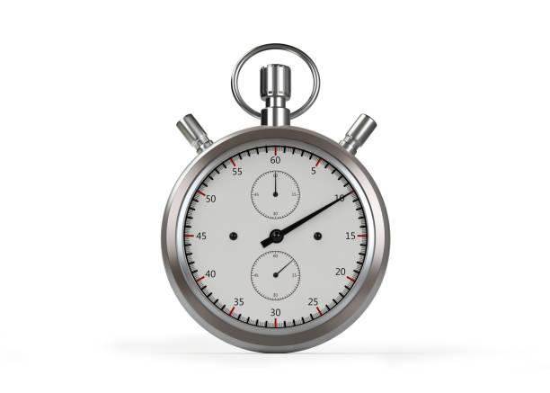 watch timer stoppen op wit - stopwatch stockfoto's en -beelden