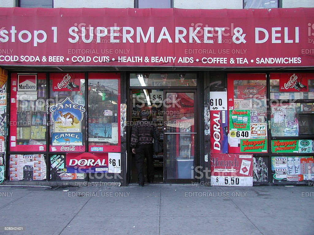 Stop1 Supermarket & Deli 441 Lenox Ave, Harlem 2004 stock photo