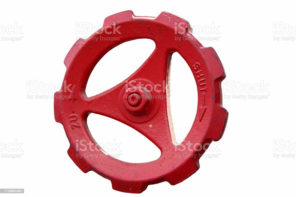 Stopcock in Red (incl. 4 paths) royalty-free stock photo