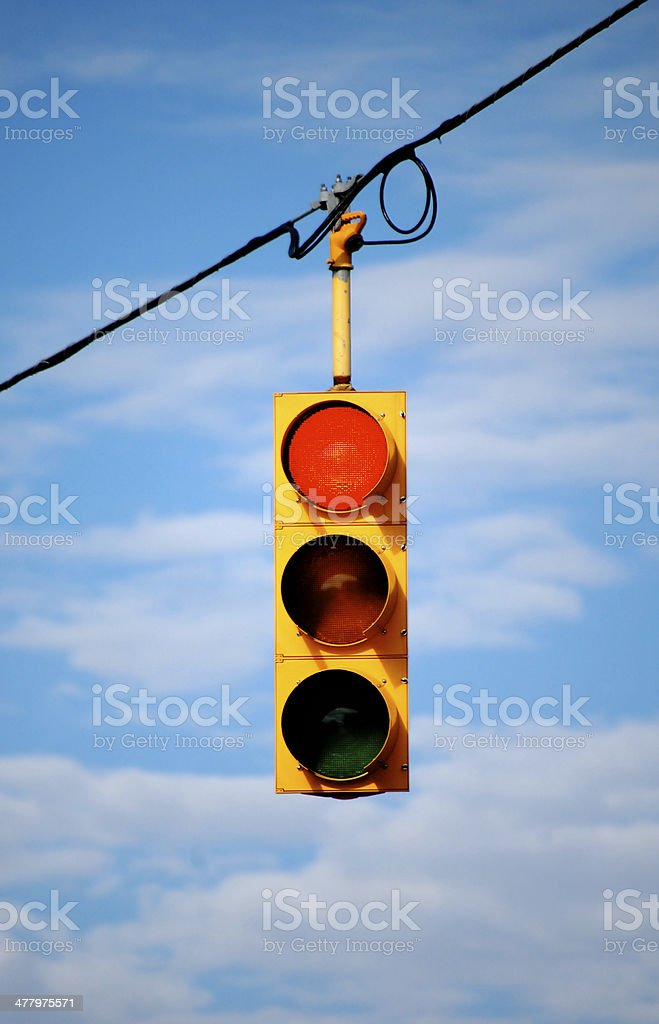 Stoplight on red royalty-free stock photo