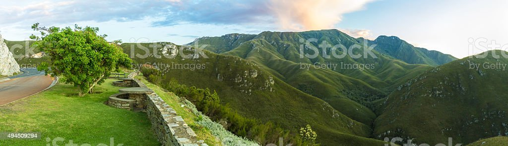 Stopover viewpoint at the Outeniqua Pass in South Africa stock photo