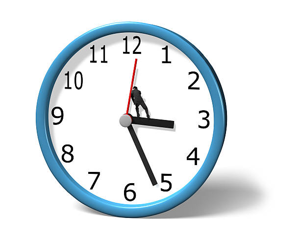 Stopping clock hand Stopping clock hand in white background antagonize stock pictures, royalty-free photos & images