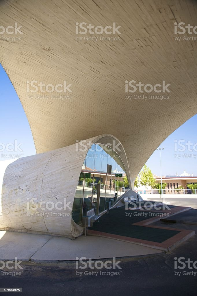 stopping place bus station royalty-free stock photo