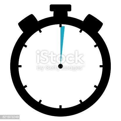 1054812046 istock photo Stoppwatch Icon 1 Second 1 Minute 521973249