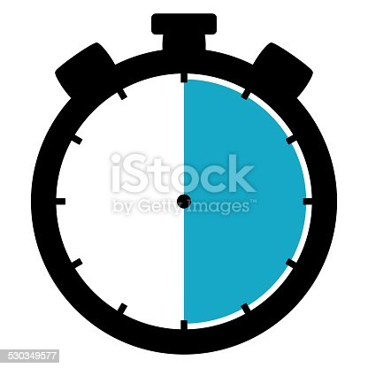 1054812046 istock photo Stoppwatch icon: 30 Minutes 30 Seconds 6 hours 530349577