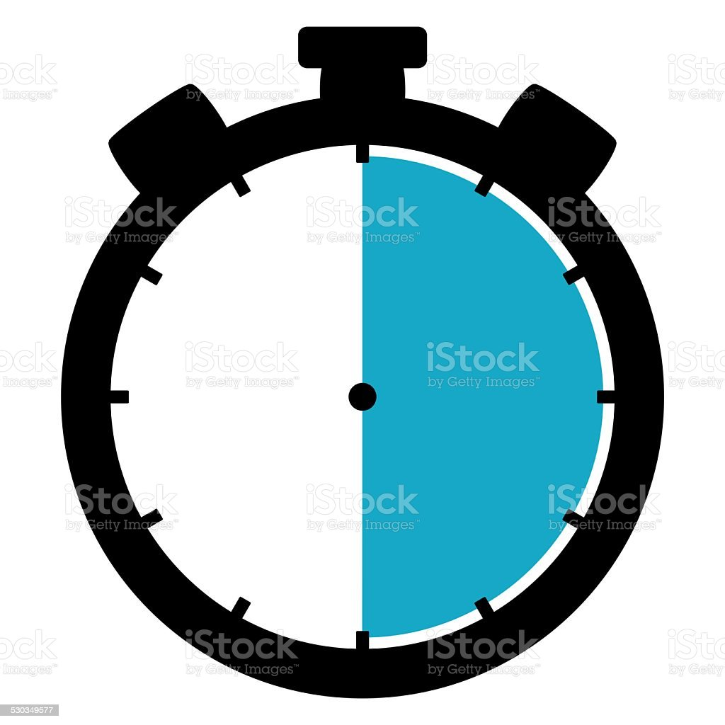 Stoppwatch icon: 30 Minutes 30 Seconds 6 hours stock photo