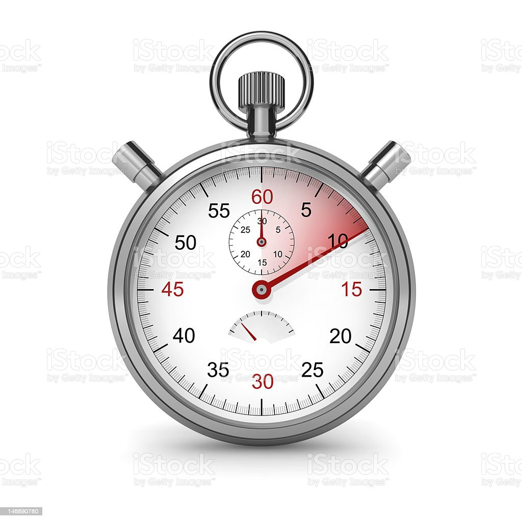 Stopwatch. 10 seconds. stock photo