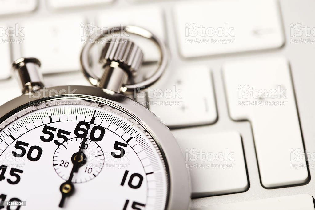 Stopwatch and technology royalty-free stock photo