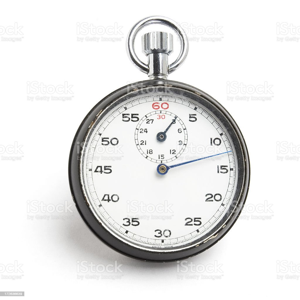 Stopwatch at 12.5 seconds royalty-free stock photo