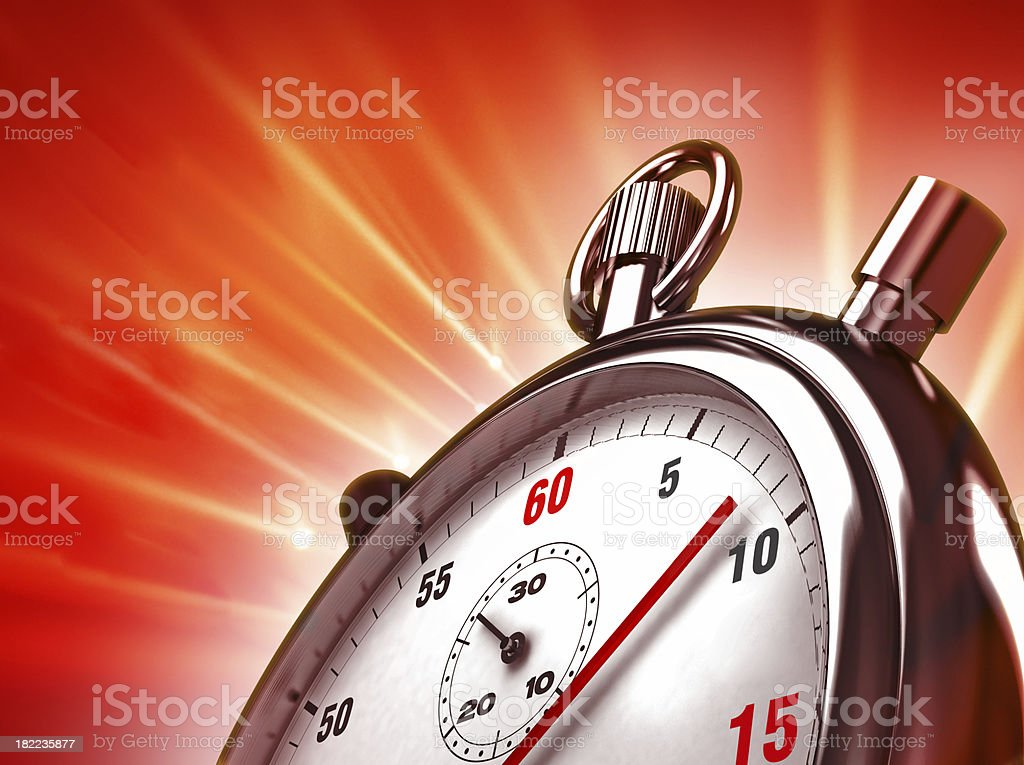 Stopwatch background stock photo