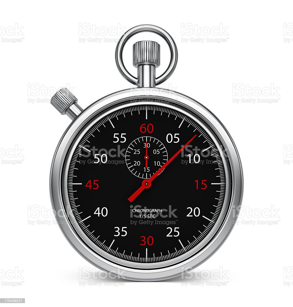 Stopwatch Chronometer - Black stock photo