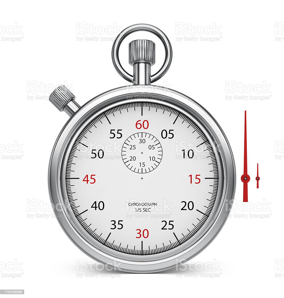 Stopwatch Chronometer - Set the time royalty-free stock photo