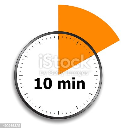 1054812046istockphoto Stopwatch face with 10 minutes marked off 492966325