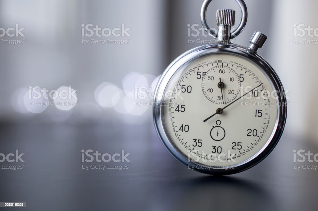 Stopwatch in work. stock photo