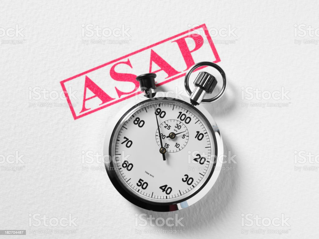 Stopwatch on Paper royalty-free stock photo
