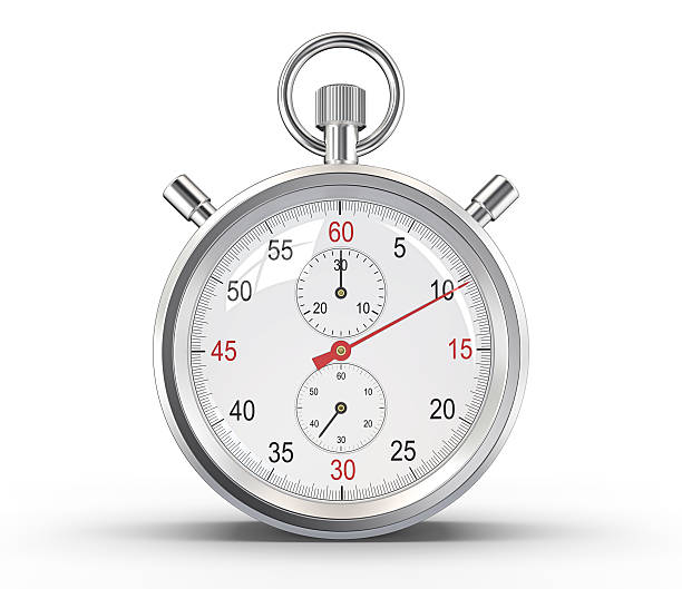 Stopwatch. Classic stopwatch. Glass reflections and ground shadow. Clipping path. timer stock pictures, royalty-free photos & images