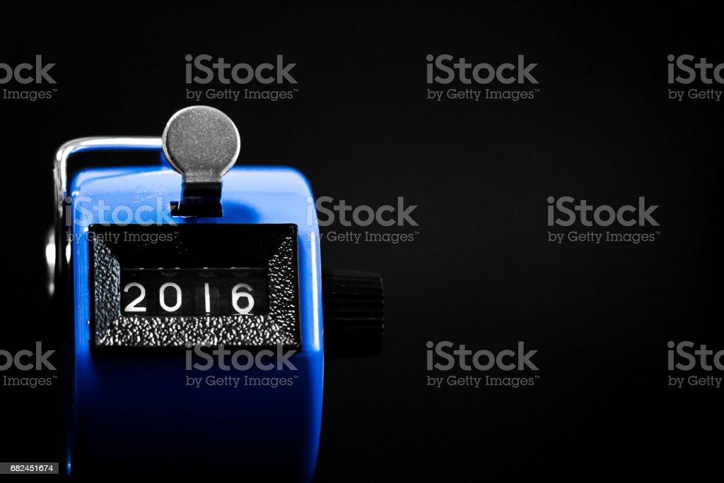 2016 için işaret kronometre royalty-free stock photo
