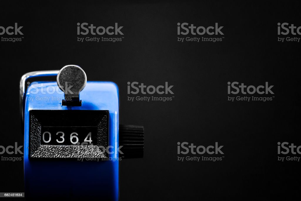 Stopwatch pointing to 364 royalty-free stock photo