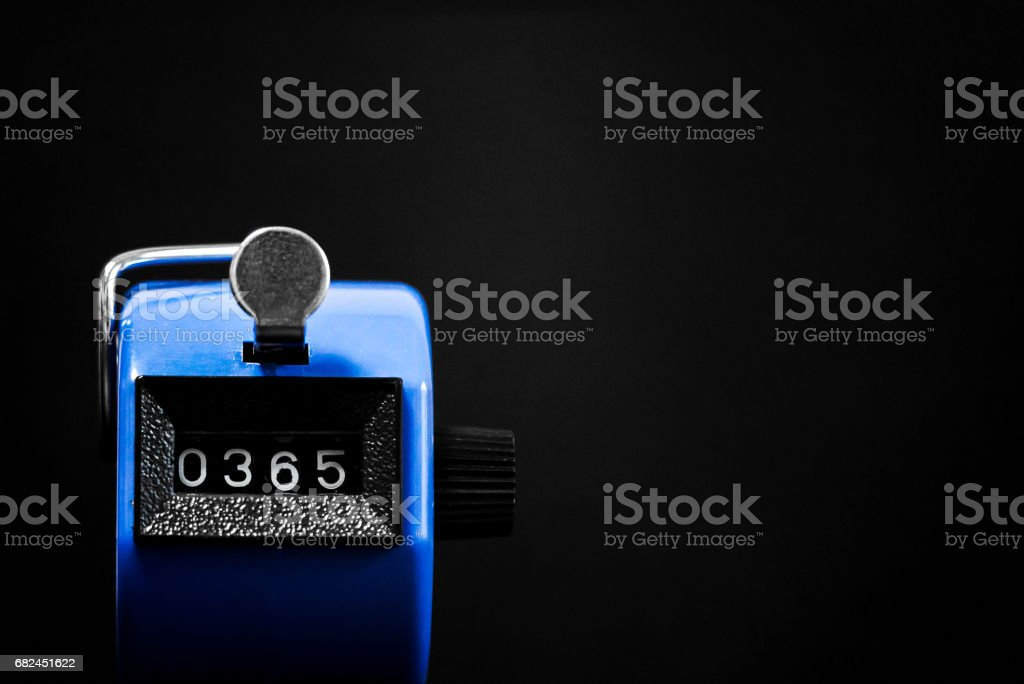 Stopwatch pointing to 365 royalty-free stock photo