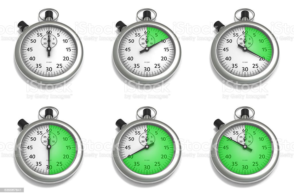 Stopwatch Set of Illustrations stock photo