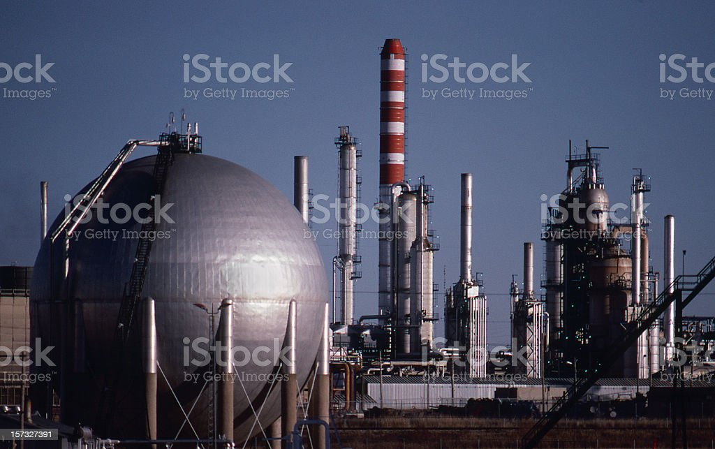 LPG Storage and Gas Plant stock photo