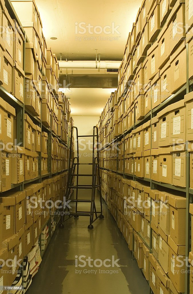 Storage area stock photo