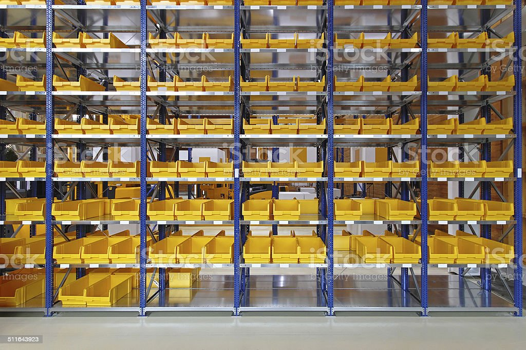 Storage bins stock photo