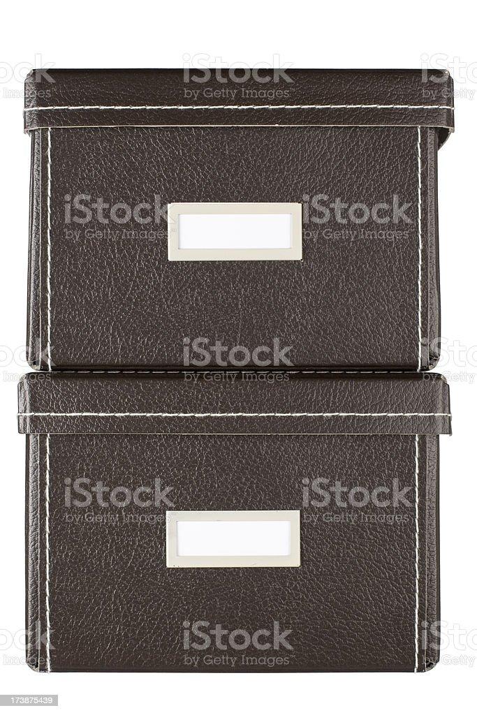 Storage boxes royalty-free stock photo