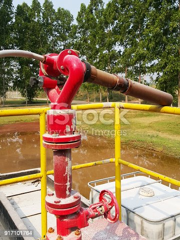 1001622522 istock photo Storage bunker- c tank  inside the used oil room, and that tank was also heated by steam and have explosion proof equipment  for  valve,motor, pump and fire protection 917101764