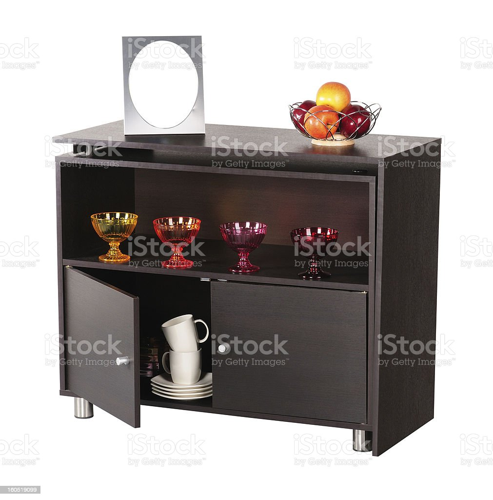 Storage compartment. Clipping path royalty-free stock photo