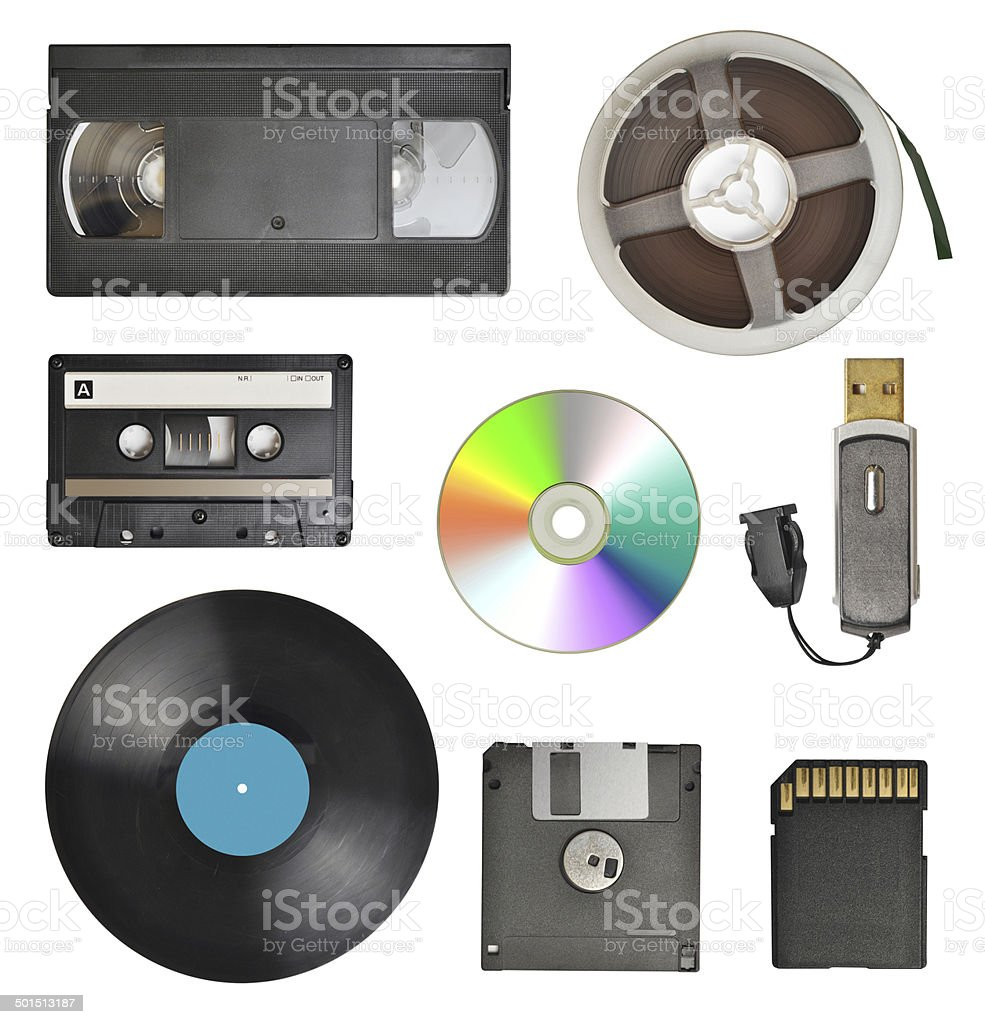 storage devices stock photo