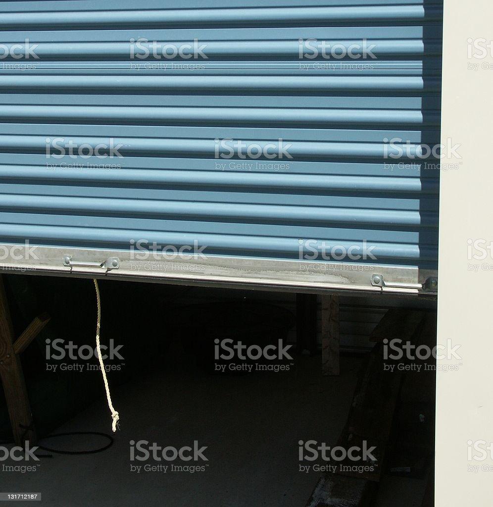 Storage Door Open royalty-free stock photo