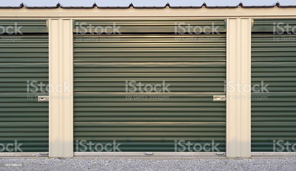 Storage Garage Doors royalty-free stock photo