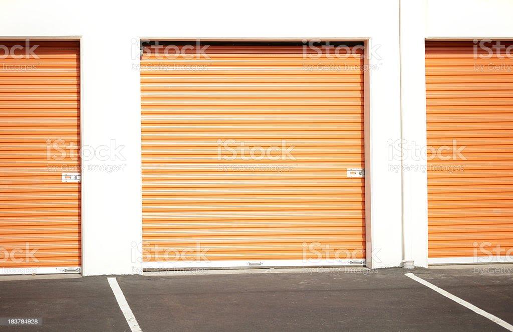 Storage Garages royalty-free stock photo