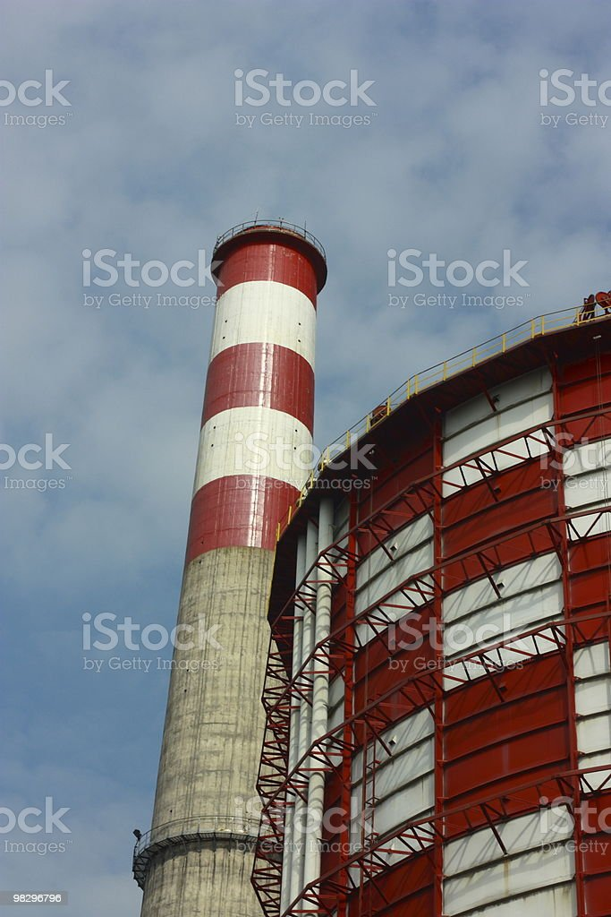Storage serbatoio del carburante e Stack foto stock royalty-free