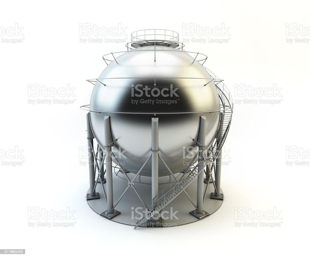 Storage LPG Tank isolated on white background stock photo