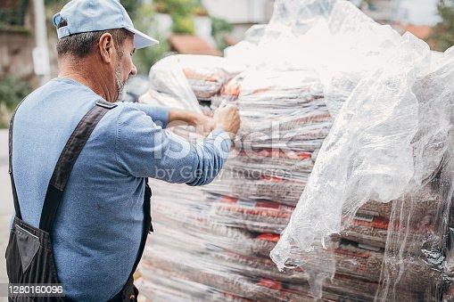 storage of firewood pellets