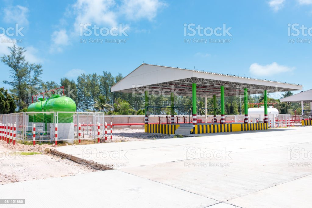 storage of gasoline of thailand foto stock royalty-free