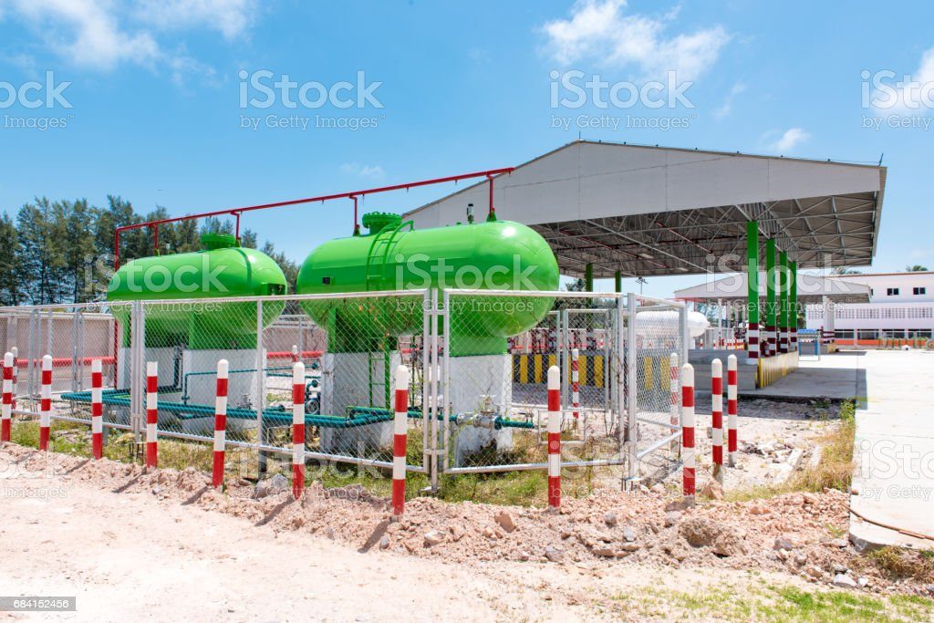 opslag van benzine van thailand royalty free stockfoto